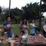 Picnic and Sunday worship in the park